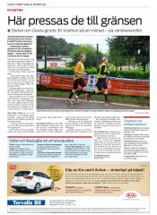 stefan zetterstrom,gisela lindoff,triple deca ironman,olympic distance triathlon