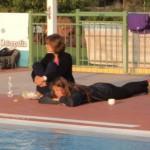 Sleeping in the pool